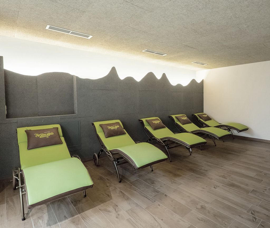 Relaxation room in the wellness area